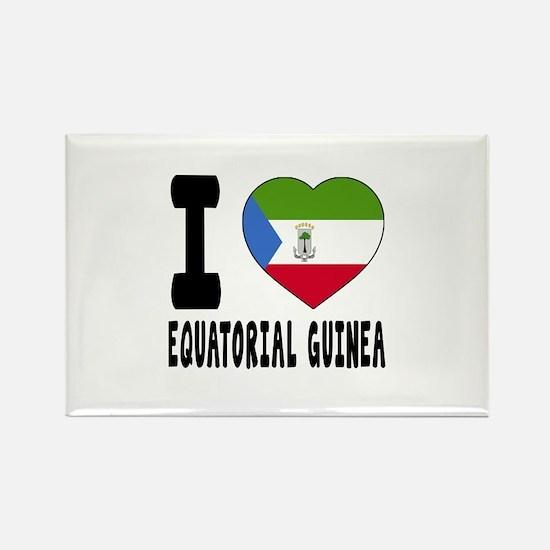 I Love Equatorial Guinea Rectangle Magnet