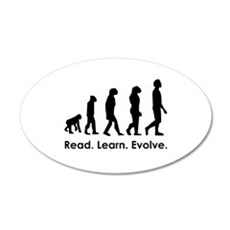 Read. Learn. Evolve. Wall Decal