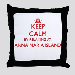 Keep calm by relaxing at Anna Maria I Throw Pillow