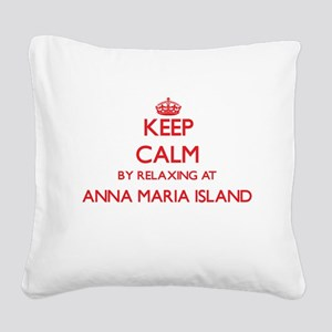 Keep calm by relaxing at Anna Square Canvas Pillow