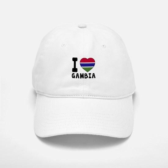 I Love Gambia Baseball Baseball Cap