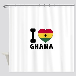 I Love Ghana Shower Curtain