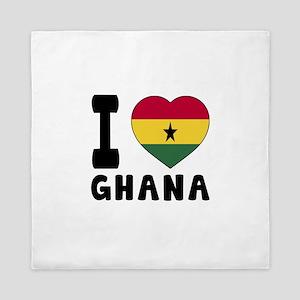 I Love Ghana Queen Duvet