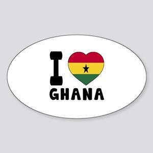 I Love Ghana Sticker (Oval)