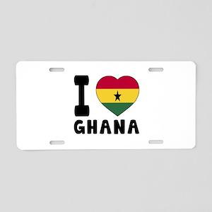 I Love Ghana Aluminum License Plate