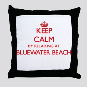 Keep calm by relaxing at Bluewater Be Throw Pillow
