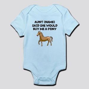 Aunt Said She Would Buy Me A Pony Body Suit