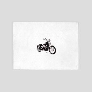 Motorcycle 5'x7'Area Rug