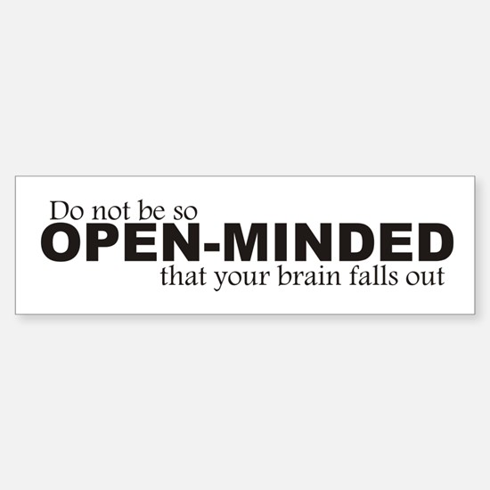 Open-Minded Bumper Bumper Bumper Sticker