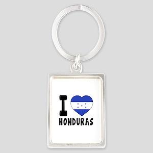 I Love Honduras Portrait Keychain