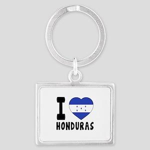 I Love Honduras Landscape Keychain
