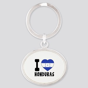 I Love Honduras Oval Keychain