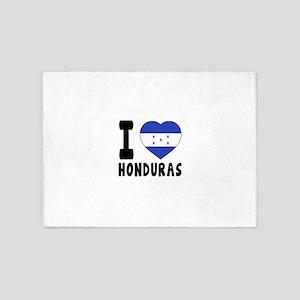 I Love Honduras 5'x7'Area Rug