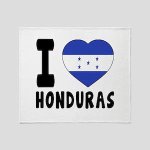 I Love Honduras Throw Blanket