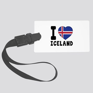 I Love Iceland Large Luggage Tag