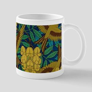 Vintage Art Deco Birds and Leaves Mugs