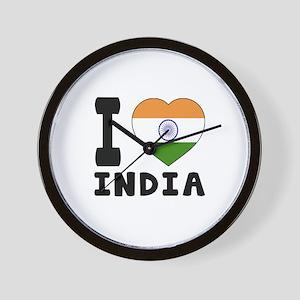 I Love India Wall Clock