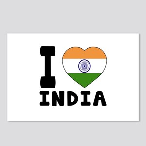 I Love India Postcards (Package of 8)