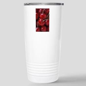 Big Red Cherries Stainless Steel Travel Mug