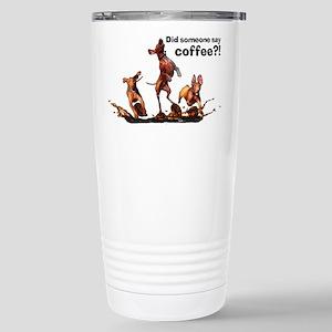 Coffee Vizslas Stainless Steel Travel Mug