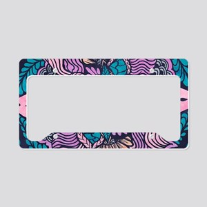 Bright purple pink watercolor License Plate Holder