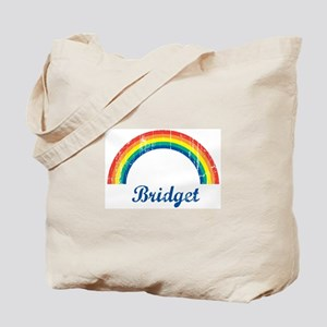 Bridget vintage rainbow Tote Bag