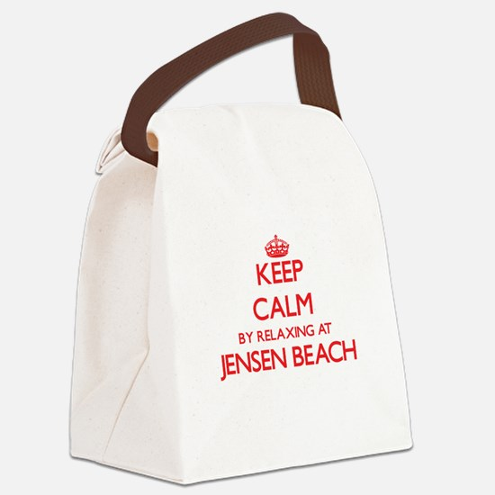 Keep calm by relaxing at Jensen B Canvas Lunch Bag
