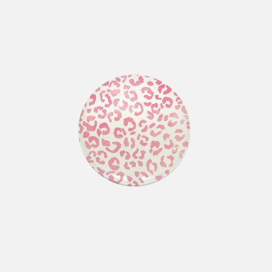 Modern girly pink ombre watercolor leo Mini Button
