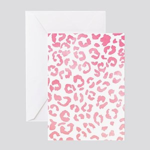 Modern girly pink ombre watercolor l Greeting Card