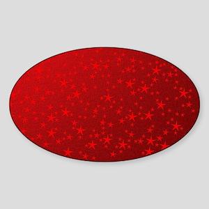 red stars in red Sticker