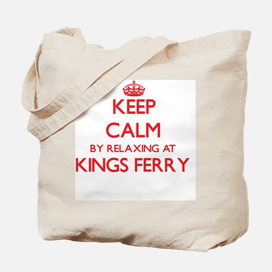 Keep calm by relaxing at Kings Ferry Geor Tote Bag