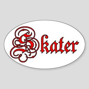 Skater Oval Sticker