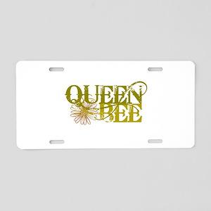 Queen Bee Aluminum License Plate