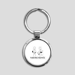 TAKING NOTES - MUSIC Round Keychain