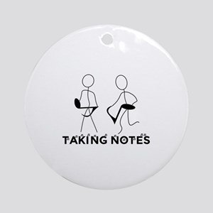 TAKING NOTES - MUSIC Round Ornament