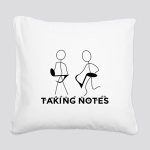TAKING NOTES - MUSIC Square Canvas Pillow