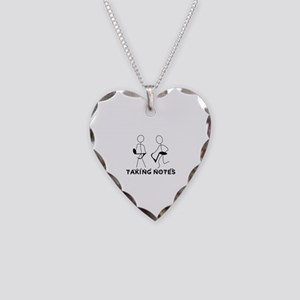 TAKING NOTES - MUSIC Necklace Heart Charm
