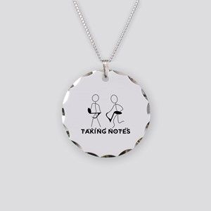 TAKING NOTES - MUSIC Necklace Circle Charm