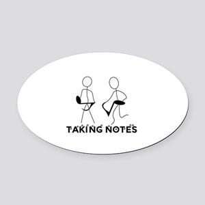TAKING NOTES - MUSIC Oval Car Magnet