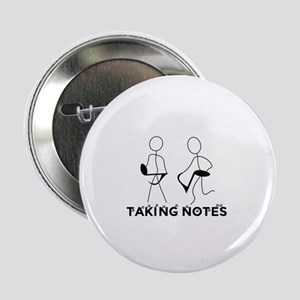 """TAKING NOTES - MUSIC 2.25"""" Button"""