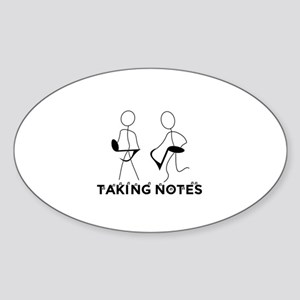 TAKING NOTES - MUSIC Sticker (Oval)