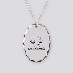 TAKING NOTES - MUSIC Necklace Oval Charm