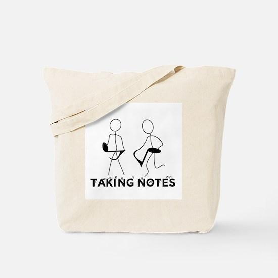TAKING NOTES - MUSIC Tote Bag