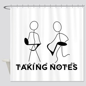 TAKING NOTES - MUSIC Shower Curtain