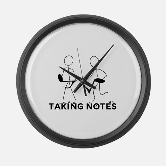 TAKING NOTES - MUSIC Large Wall Clock