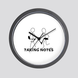 TAKING NOTES - MUSIC Wall Clock