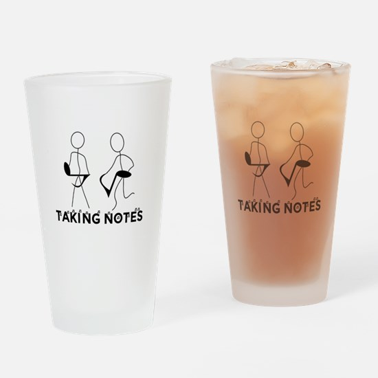 TAKING NOTES - MUSIC Drinking Glass