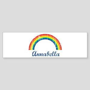 Annabella vintage rainbow Bumper Sticker