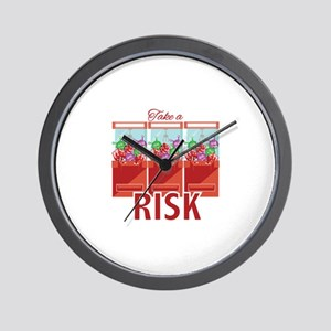 Take A Risk Wall Clock