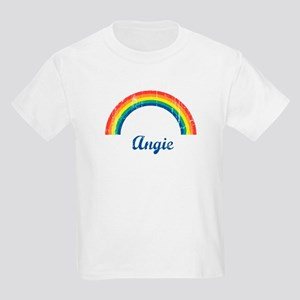 Angie vintage rainbow Kids Light T-Shirt